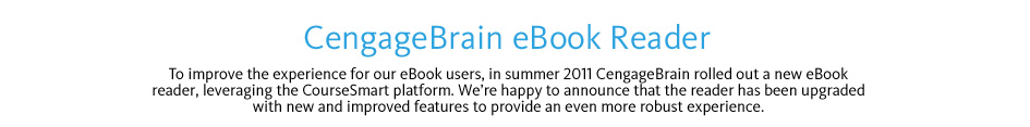 CengageBrain eBook Reader